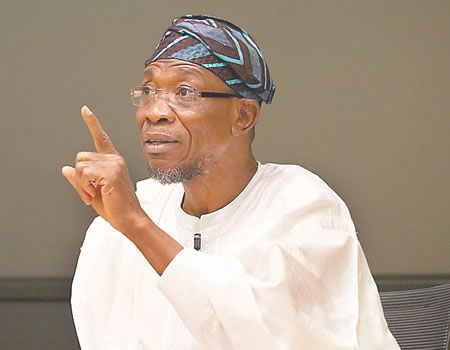 Aregbesola tackles workers over N66,500 minimum wage demand