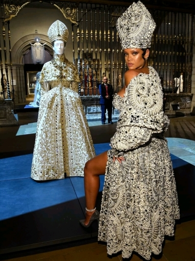 Rihanna steals show in Catholic-inspired Met Gala