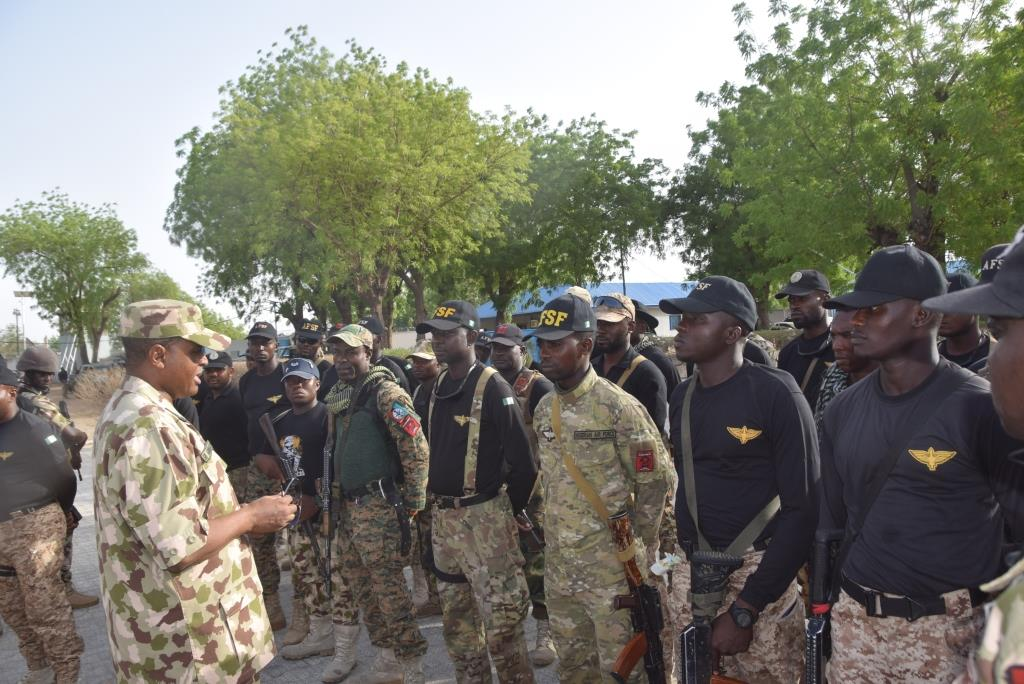 CAS celebrates Sallah with frontline troops in Maiduguri