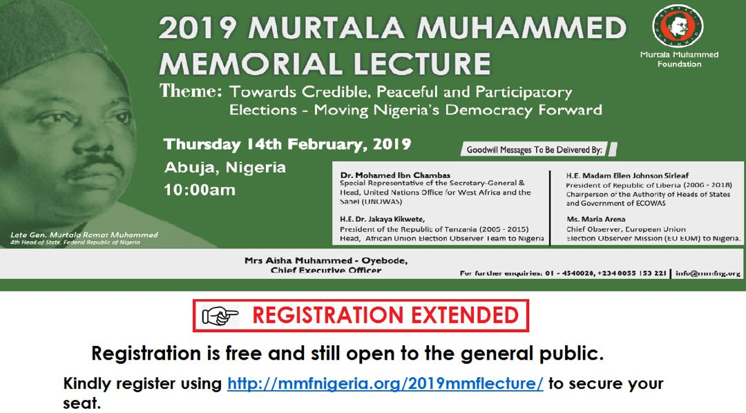 2019: Emir of Kano, Int'l Observers to Speak on Credible Polls at Murtala Lectures