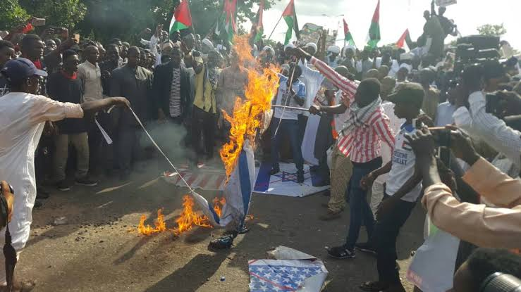 IMN extending its terror activities beyond Nigeria – CSO reacts  to burning of US, Israeli flags by Shiites in Abuja