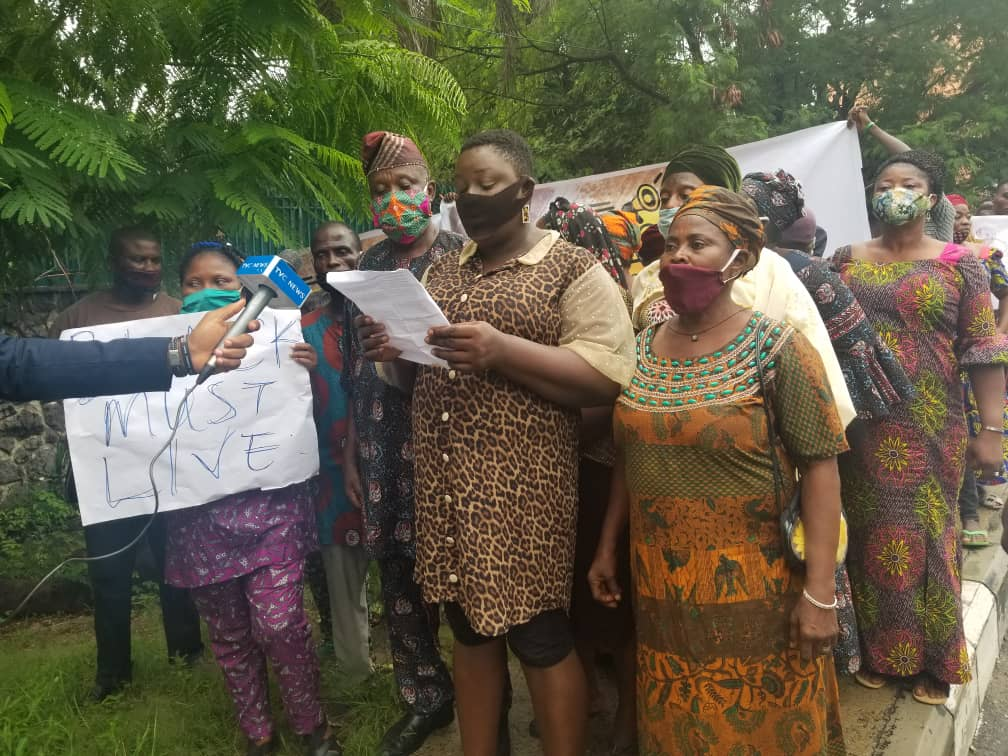 Racial Killings: Protesters defy heavy rain in Lagos, march in solidarity with blacks against white brutality